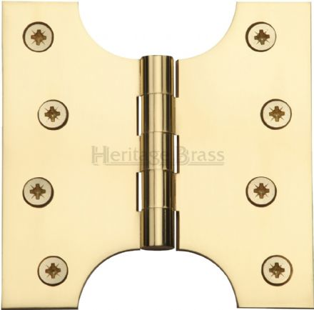 "M Marcus Heritage Brass HG99-385-PB  Brass Parliament Hinge  4"" X 2"" X 4"" Polished Brass"